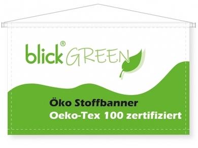 Blickstoff - Öko Stoffbanner Banner Bild 1