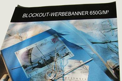 Blickstoff - Werbebanner Blockout Stoffbanner Bild 1