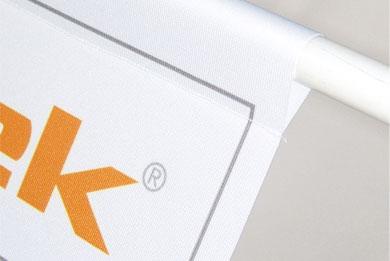 Blickstoff Textil-Werbebanner Detail Bild 2