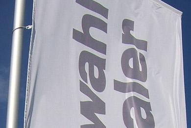 Blickstoff Werbefahnen aus Stoff Detail Bild 1